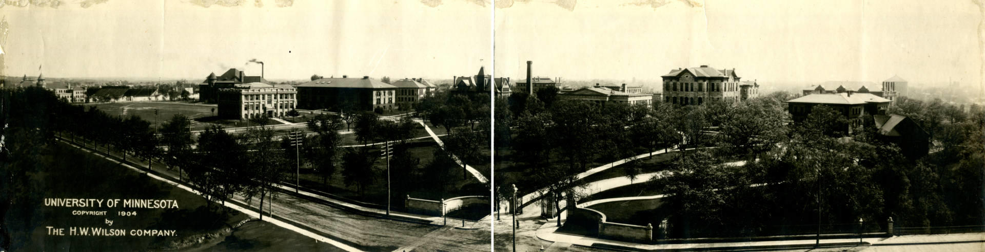 Campus photo, 1904, courtesy of University of Minnesota Libraries, University Archives.