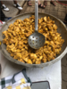 Traditional Ghanaian food, kelewele, made from fried plantains and spices
