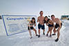 Yuka and her colleagues braved bitter -50 windchills on their sprints to the sauna!